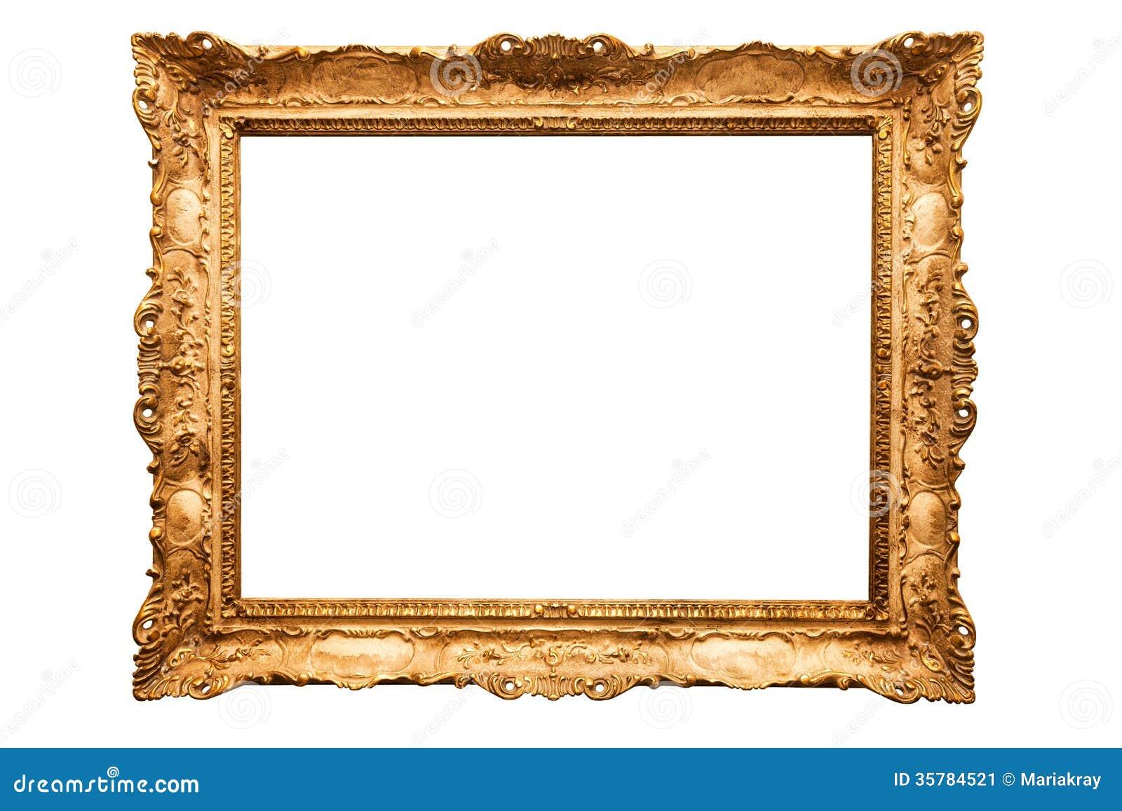 Goldrahmen stockbild. Bild von dekor, muster, feld, getrennt - 35784521