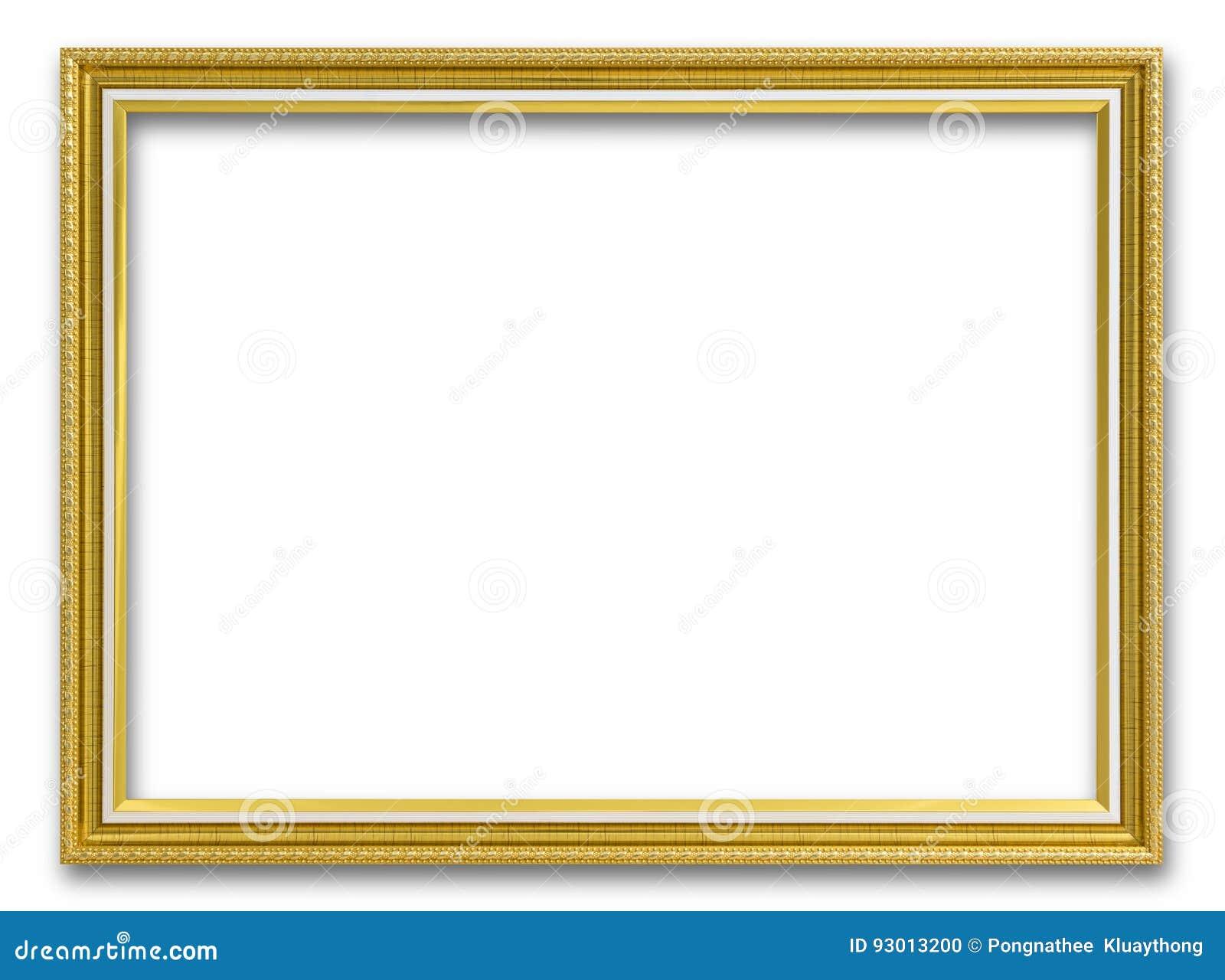 Goldrahmen Für Das Malen Oder Bild Auf Weißem Hintergrund Stockfoto ...