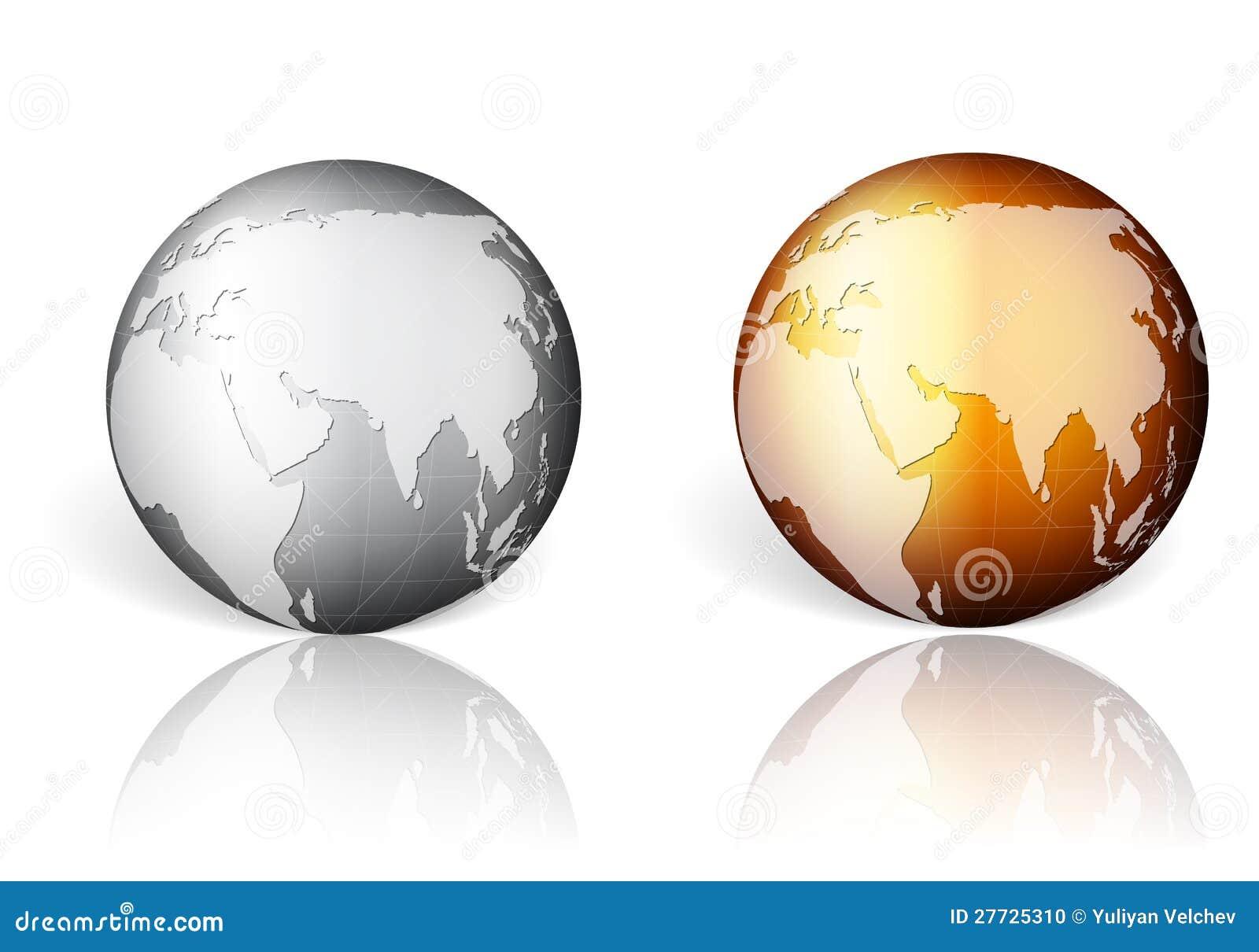 Goldsilberne Weltkugel