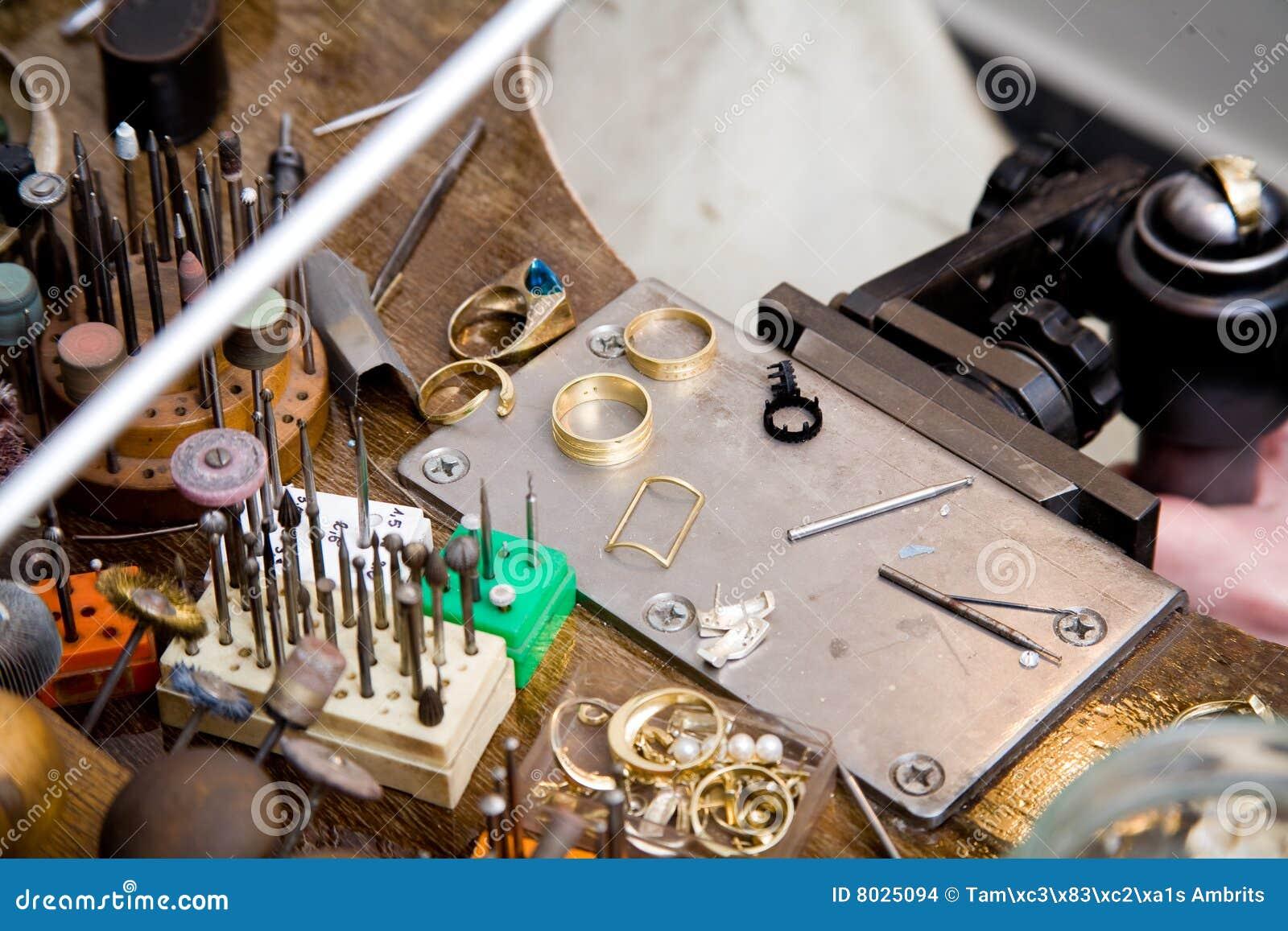 Goldsmith Tools Stock Photo Image Of Small Ring Bead