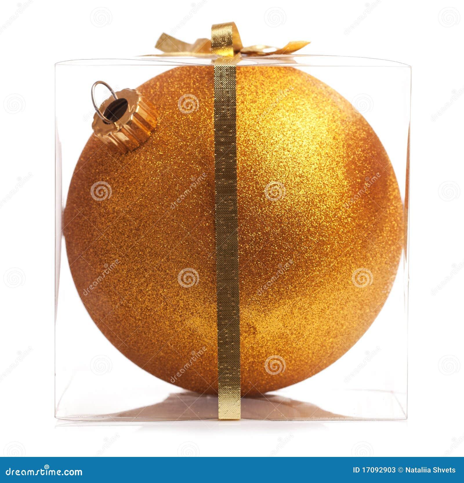 Goldweihnachtskugel (getrennt)