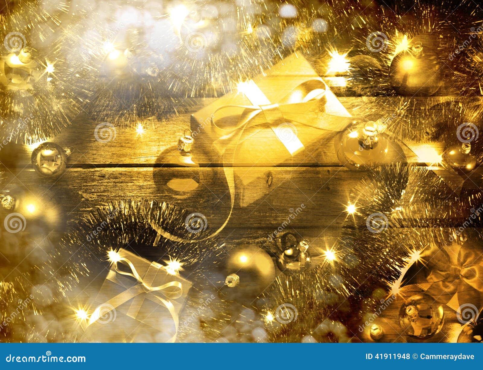 Goldweihnachtsszene
