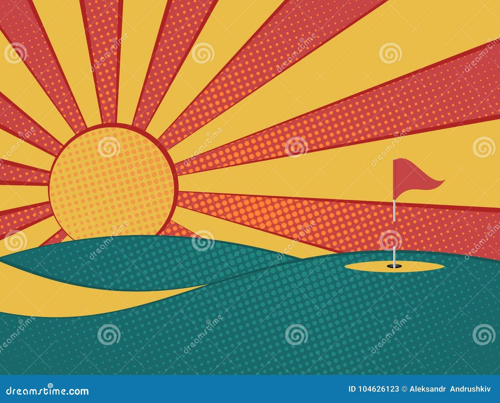 Download Golf vector illustratie. Illustratie bestaande uit summer - 104626123