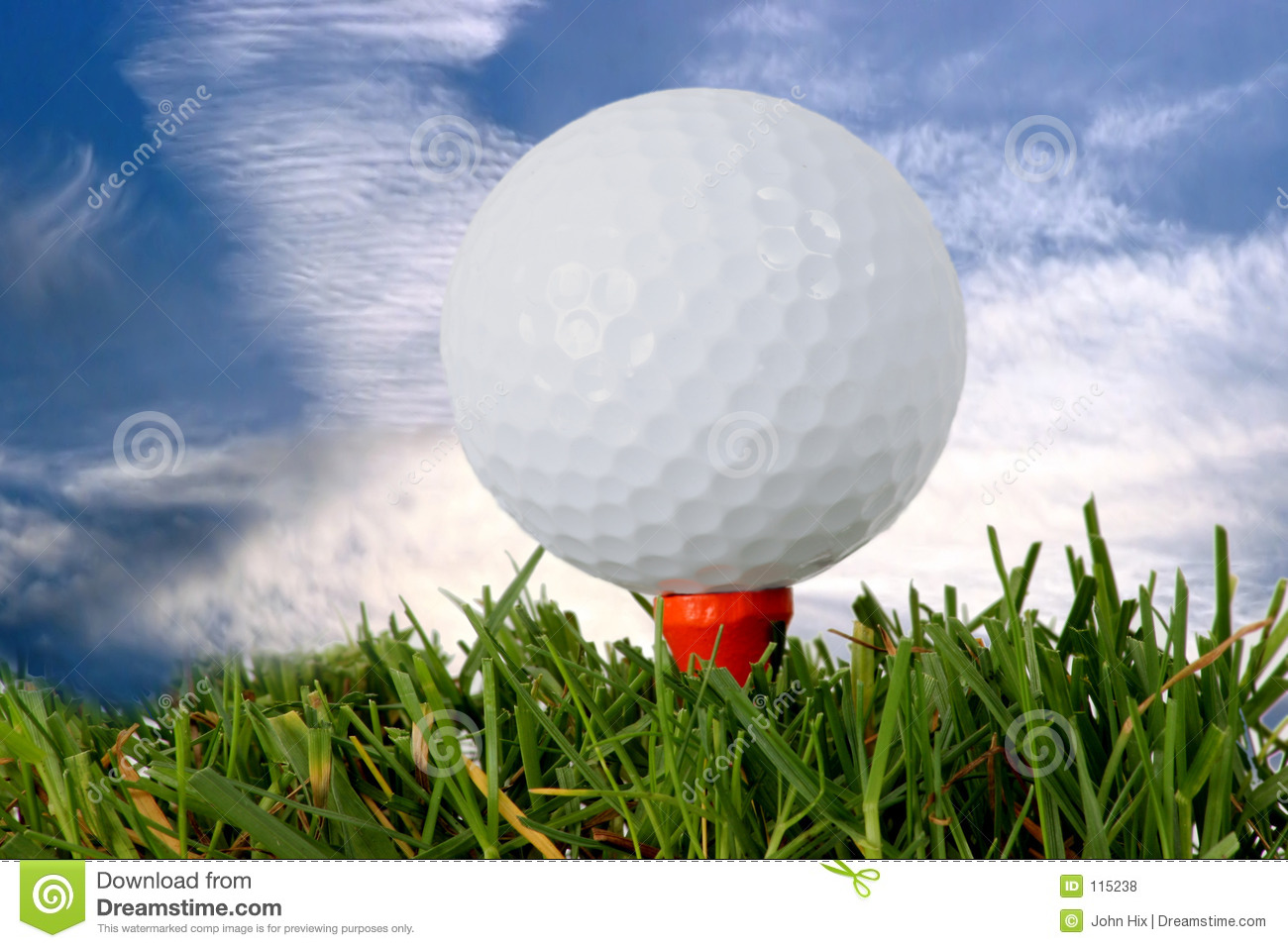 Download Golf stock photo. Image of clouds, green, putting, sport - 115238