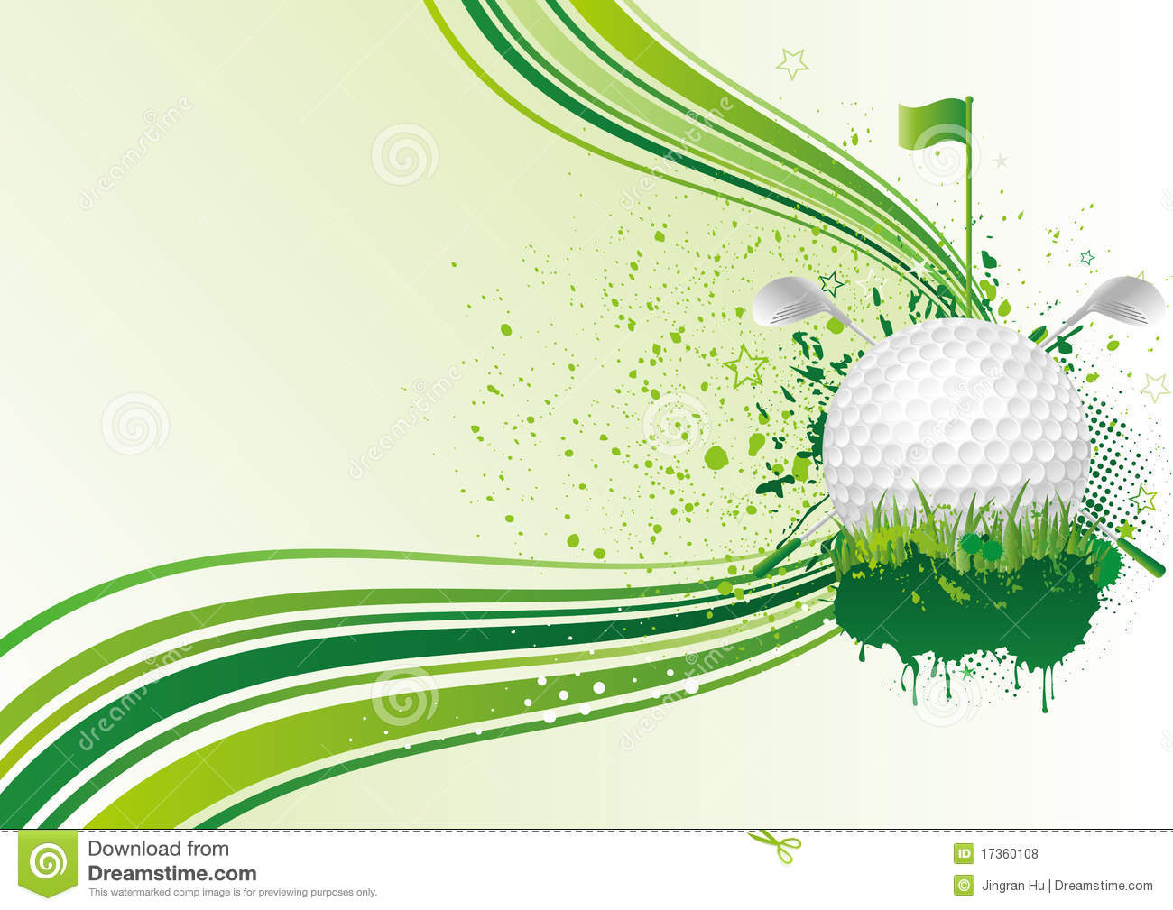 Golf Background Royalty Free Stock Photos - Image: 17360108