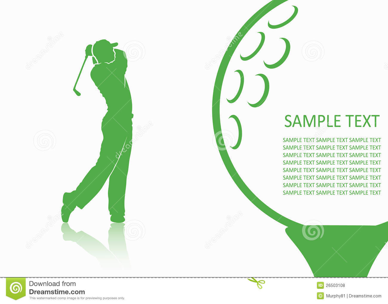 Golf Background Royalty Free Stock Photos - Image: 26503108 Golf Ball On Tee Clipart
