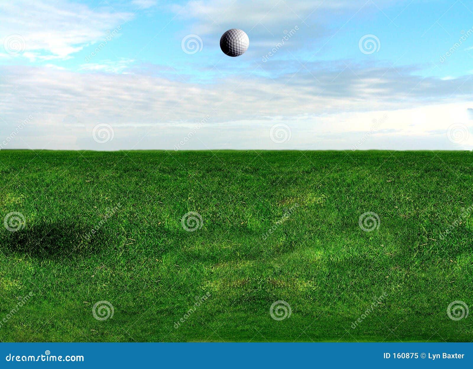Golf Ball Flying