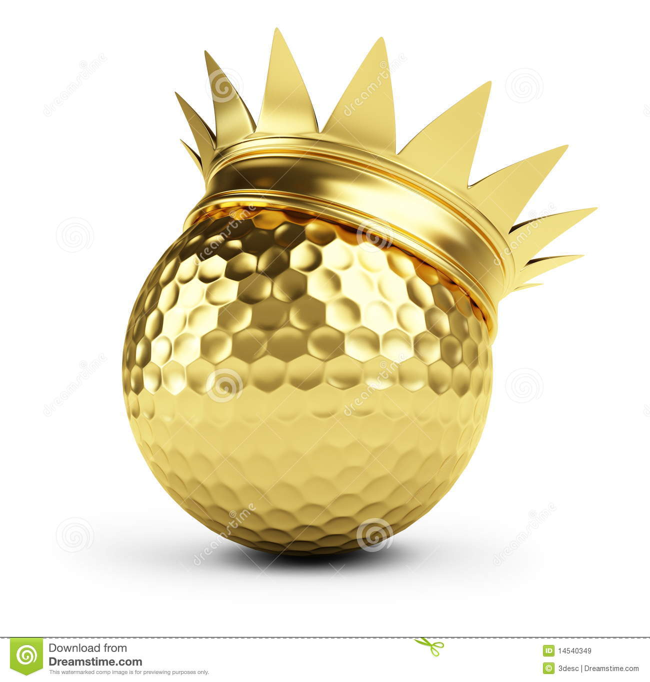 Golf Ball Gold Crown Royalty Free Stock Images - Image ... Golf Ball On Tee Clipart