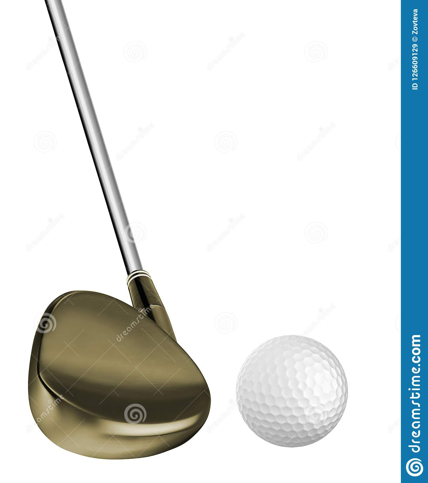 Golf ball and a golf club