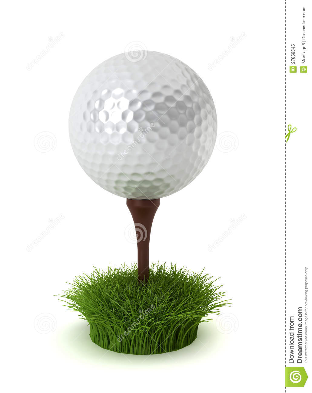 Golf Ball On Grass Royalty Free Stock Photo - Image: 27858545