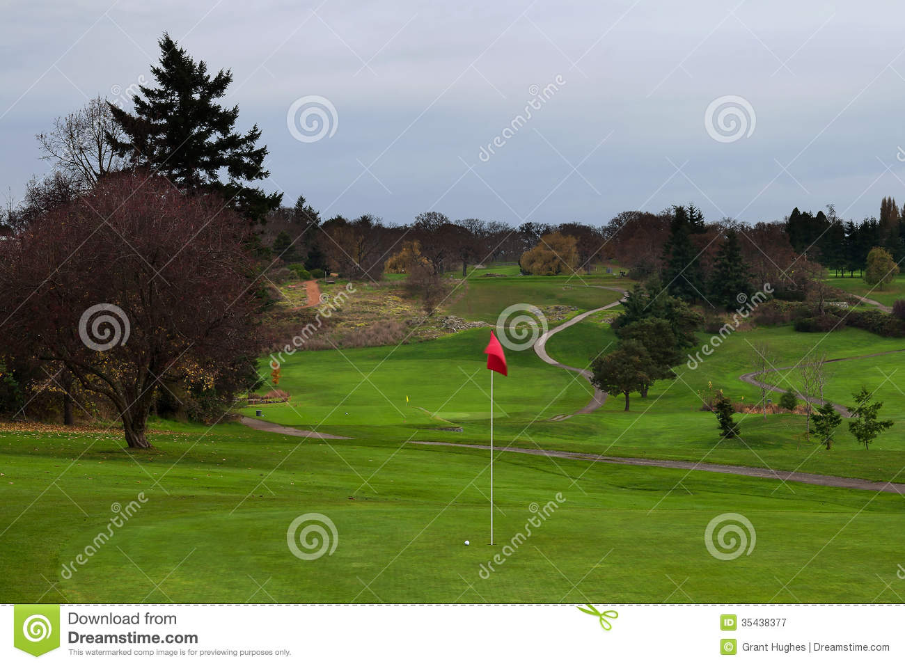 Golf Ball On Green With Distant Fairway And Curved Cart Path To Tee Curved Golf Cart on golf players, golf accessories, golf buggy, golf girls, golf tools, golf machine, golf hitting nets, golf card, golf words, golf games, golf trolley, golf handicap, golf cartoons,