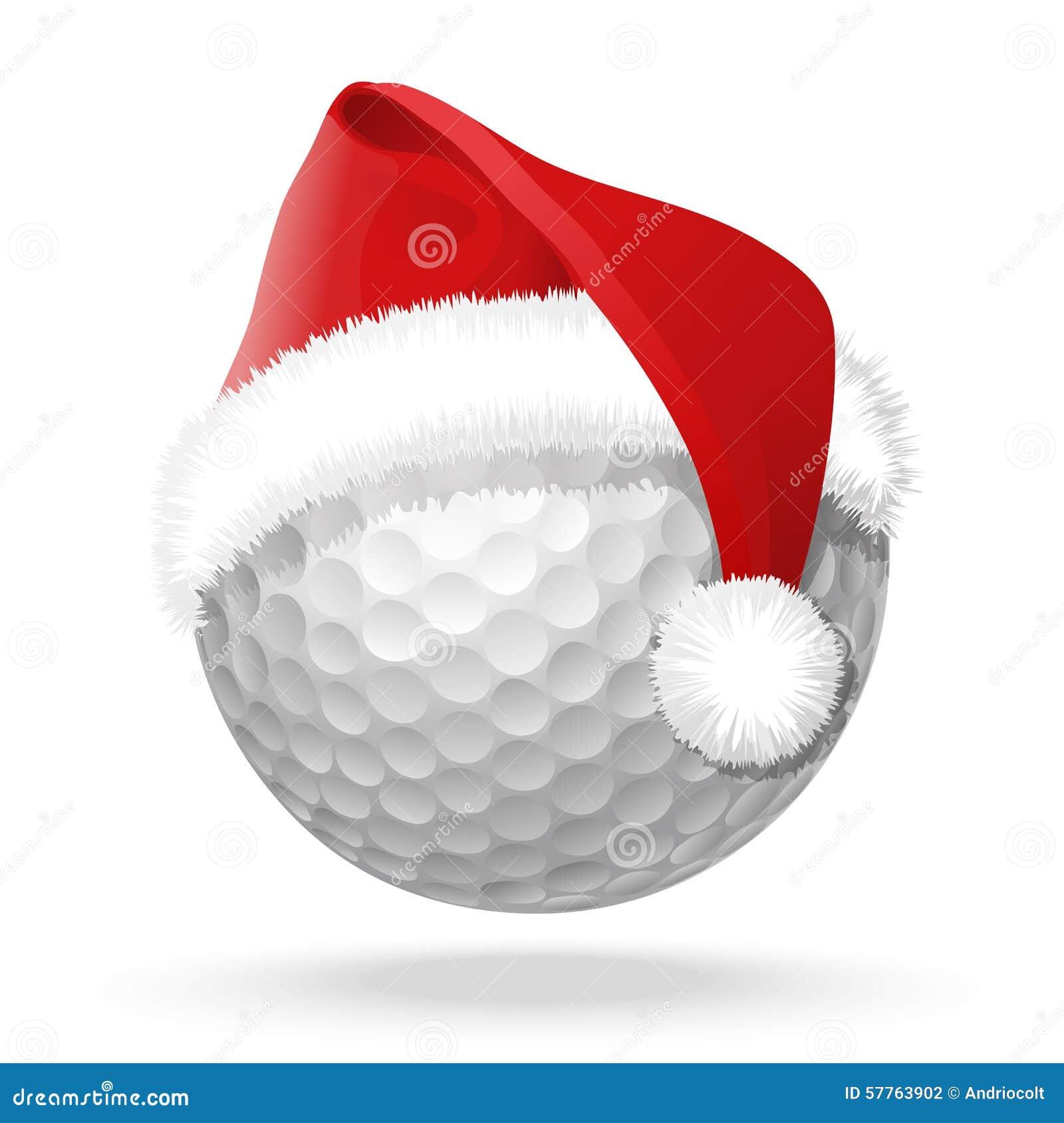 Santa Claus Golfing Clipart