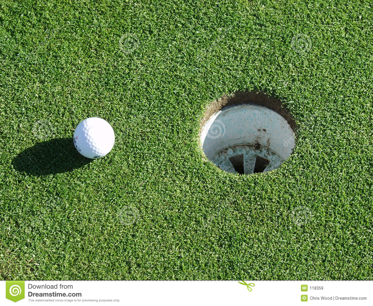 Download Golf ball and hole stock image. Image of club, golf, birdie - 118359