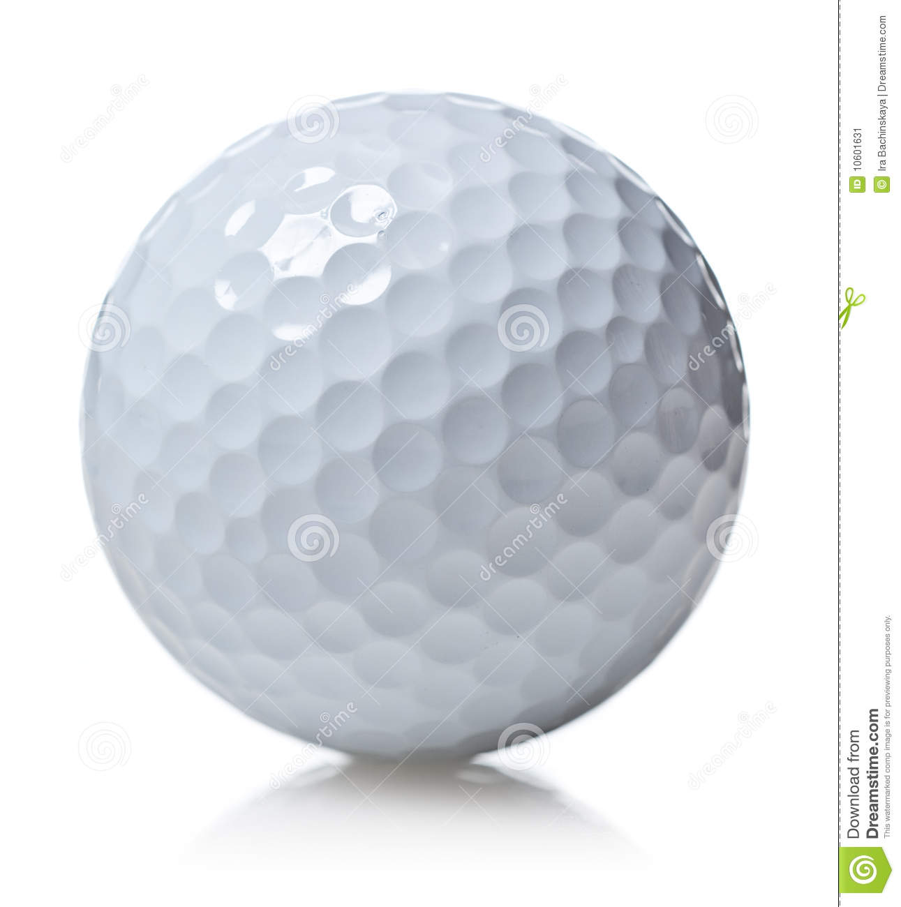 Golf ball isolated on white background Golf Ball Background