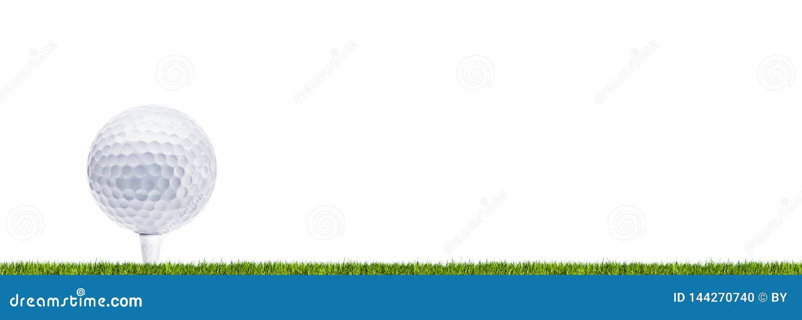 Golf Ball on meadow