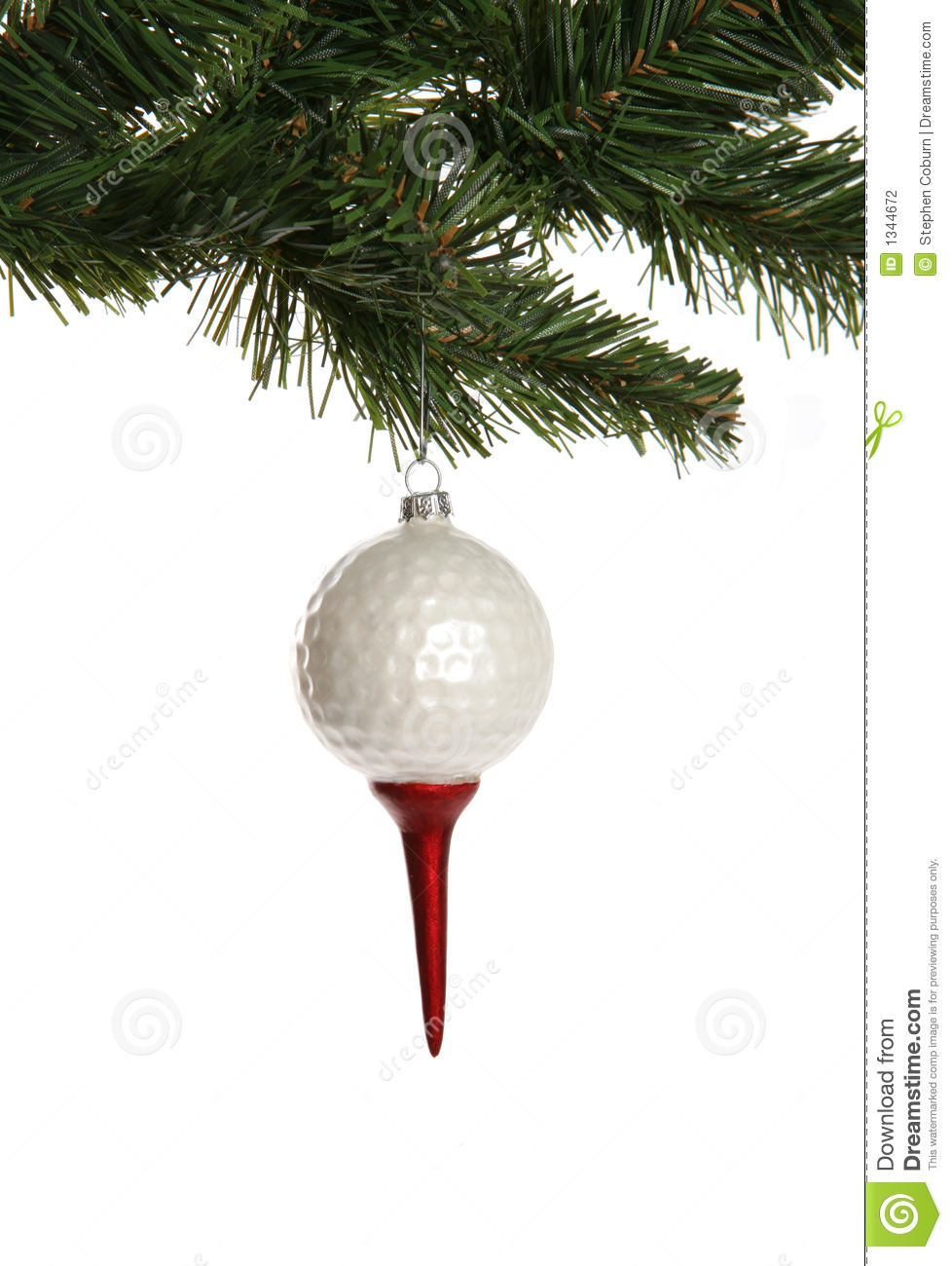 Golf Ball Christmas Ornaments