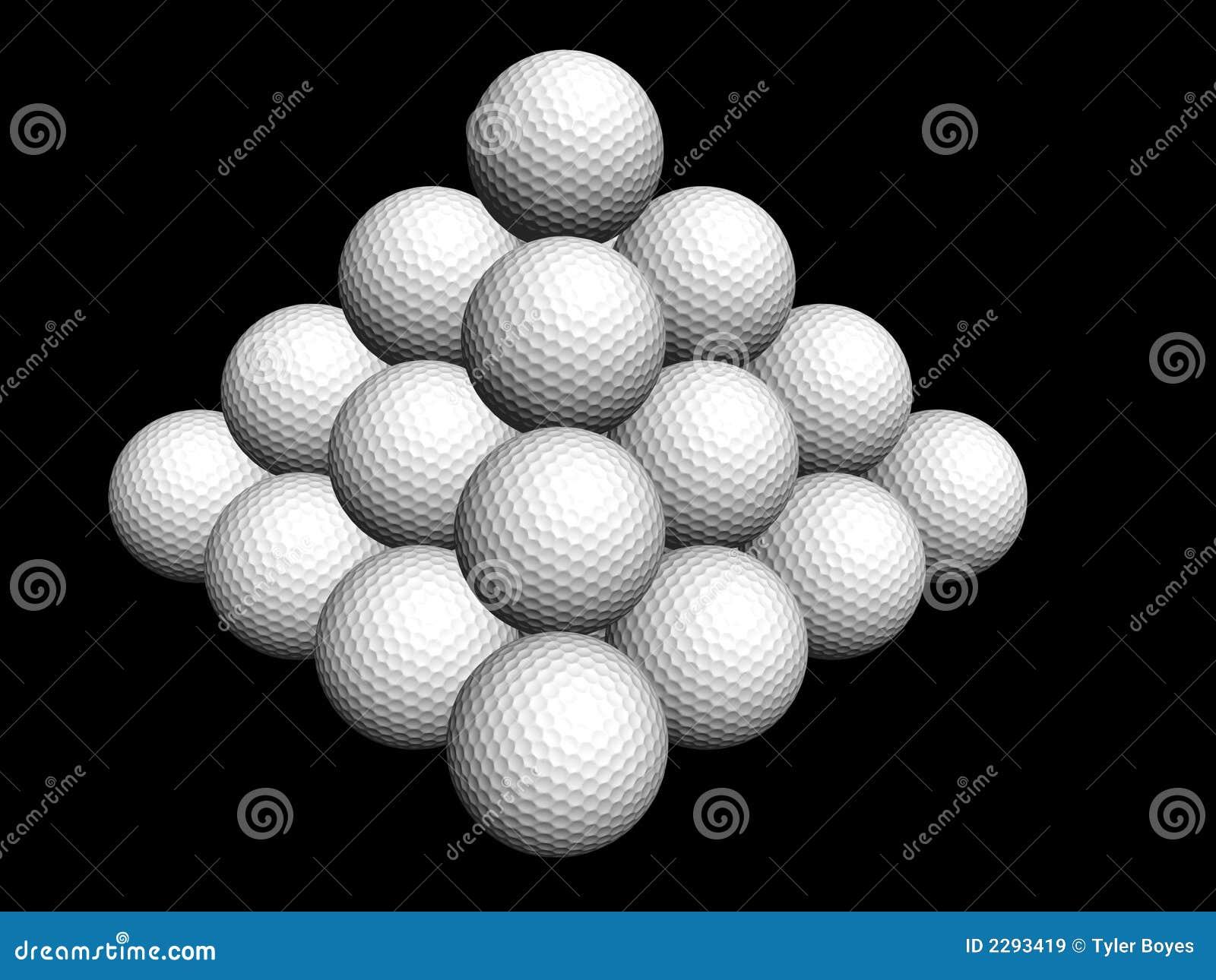 Golf Ball Pyramid Royalty Free Stock Images Image 2293419