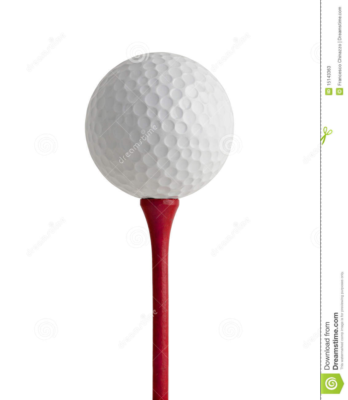 Golf Ball On Red Tee Stock Photos - Image: 15143363
