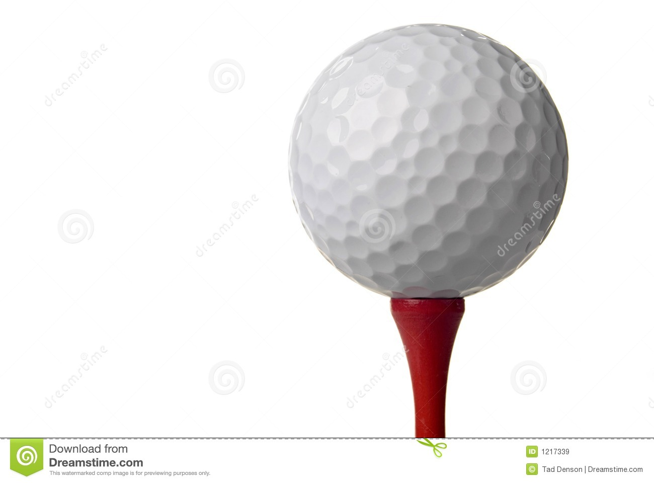 Royalty Free Stock Images  Golf ball on red tee  white backgroundGolf Ball Background