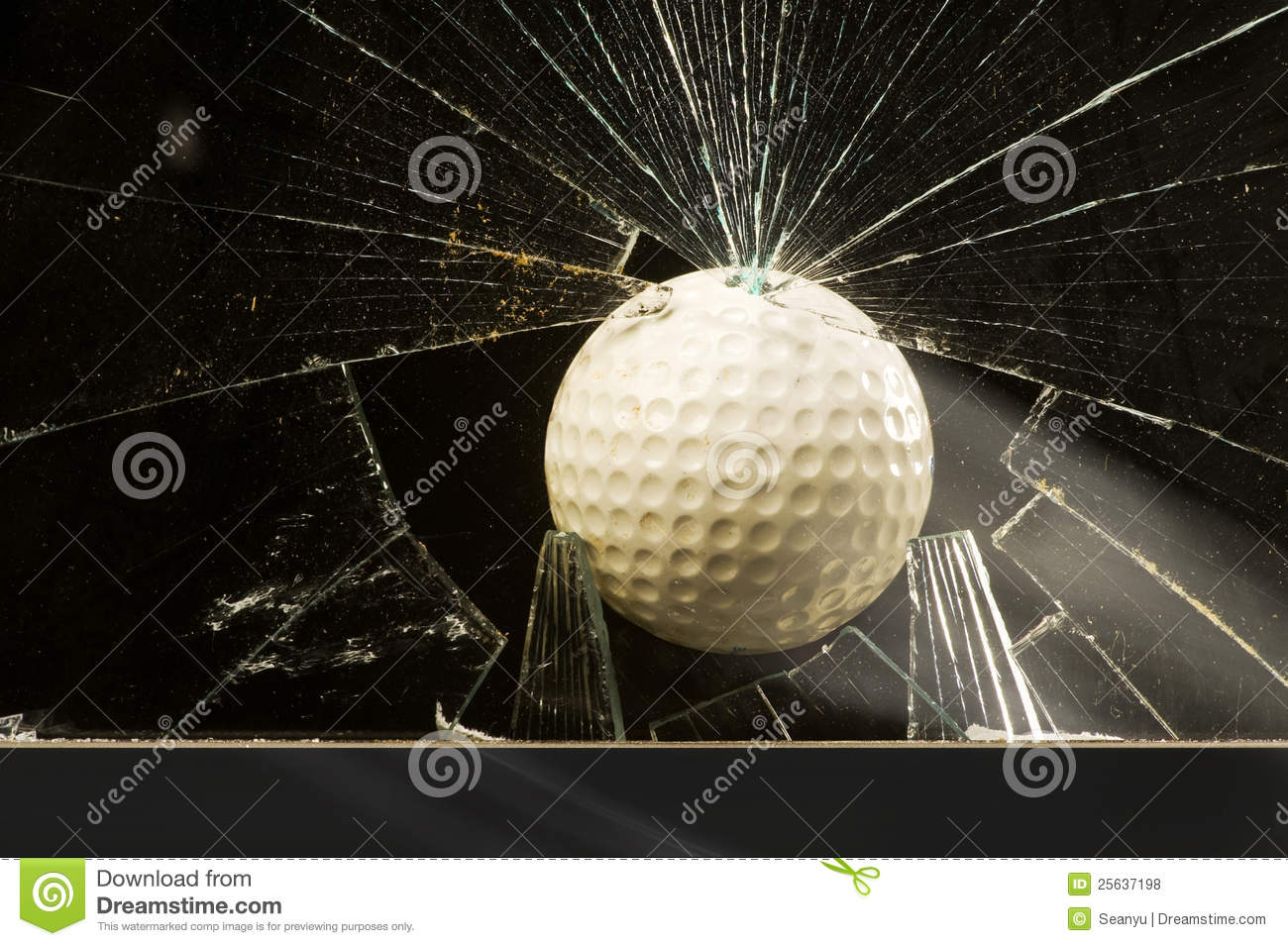 Golf Ball Shattering Glass Royalty Free Stock Photos ...
