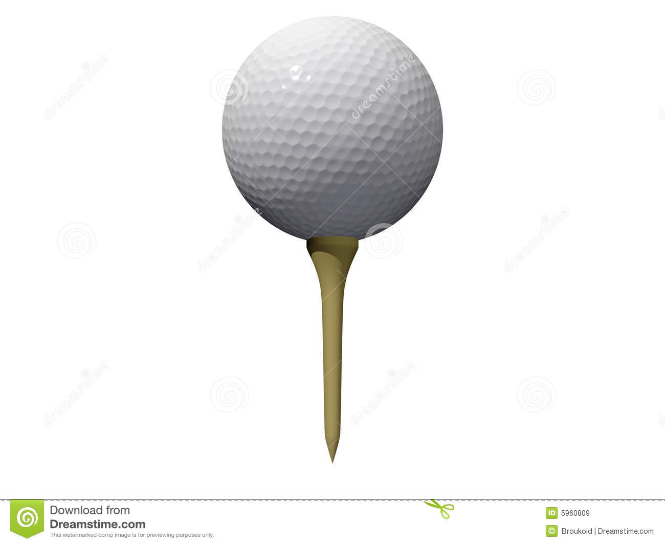 Golf Ball And Tee Royalty Free Stock Images - Image: 5960809 Golf Ball On Tee Clipart