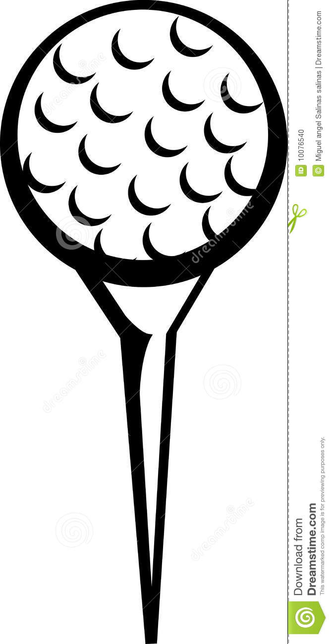 Golf Ball In Tee Vector Illustration Stock Photo - Image ... Golf Ball On Tee Clipart