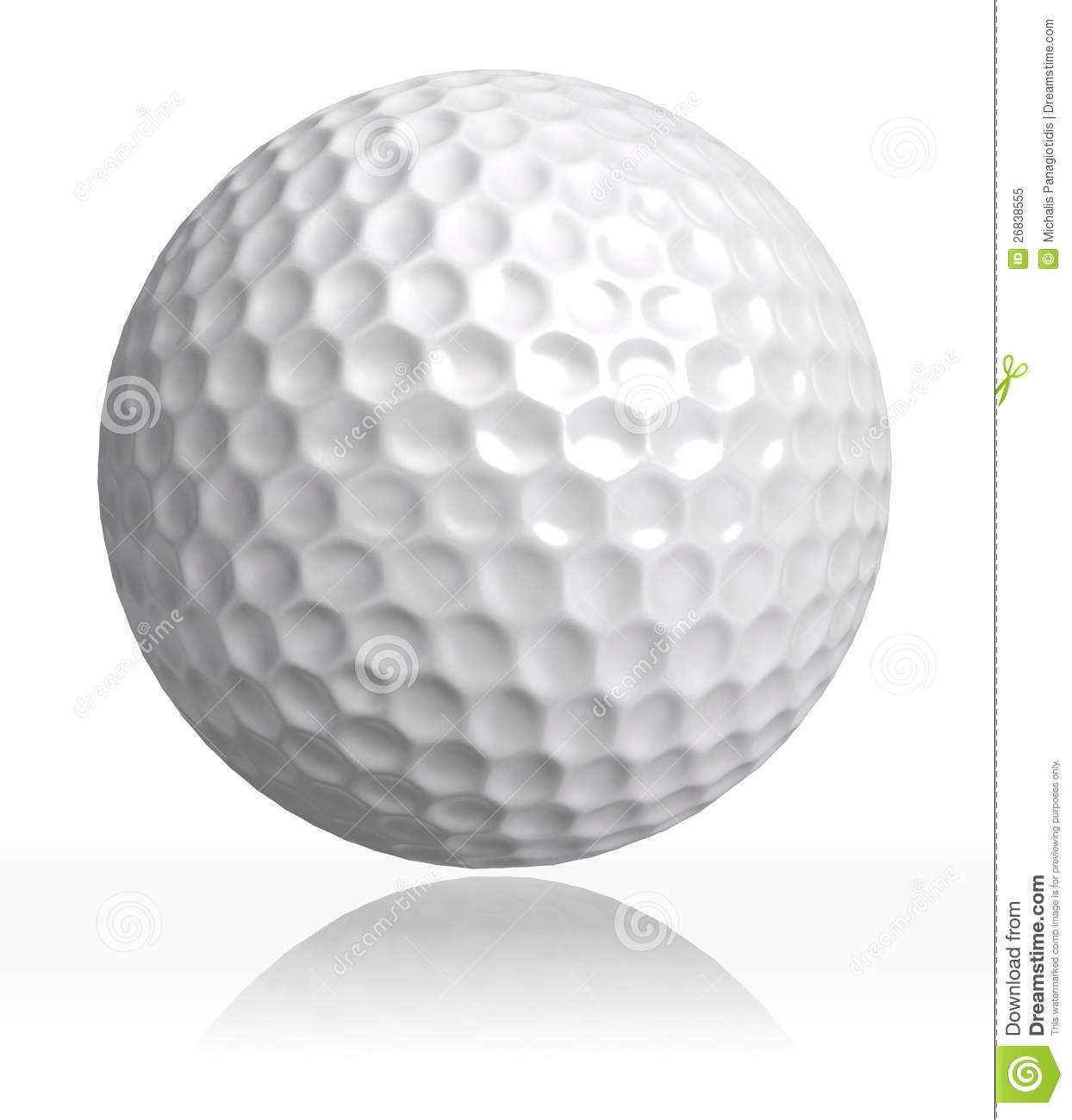 Golf Ball Clip Art Golf ball on white background.