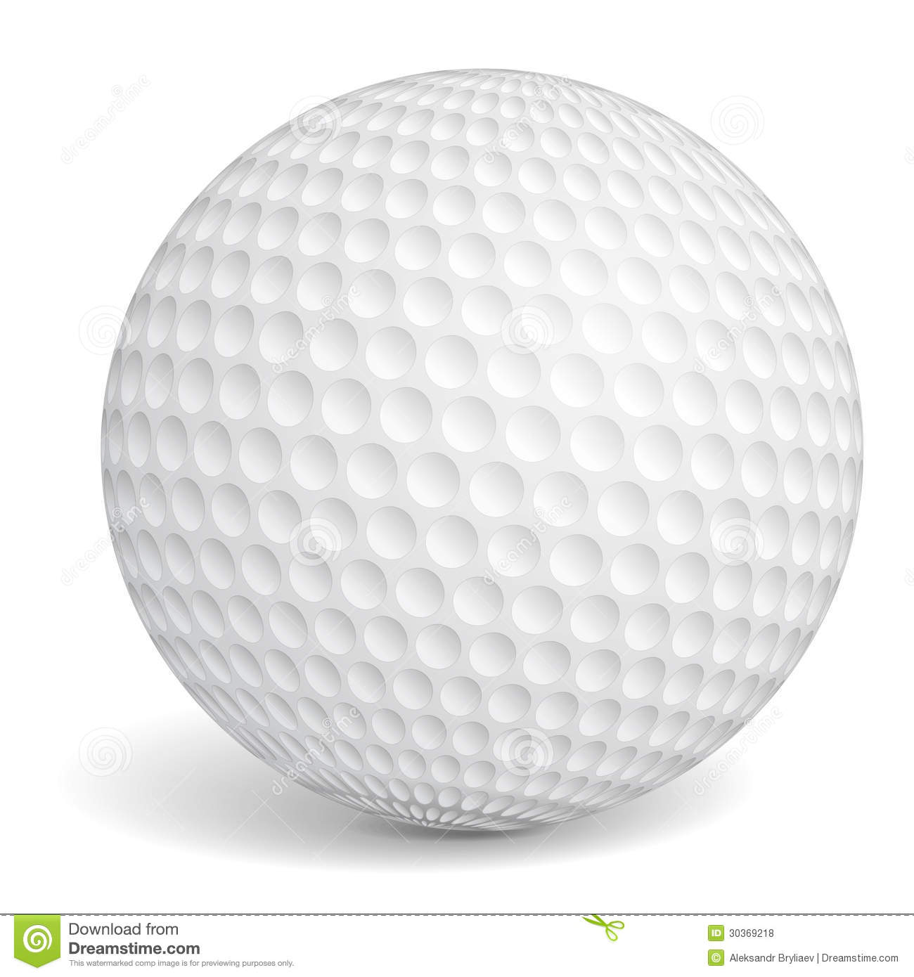 Golf ball on white background Golf Ball Background