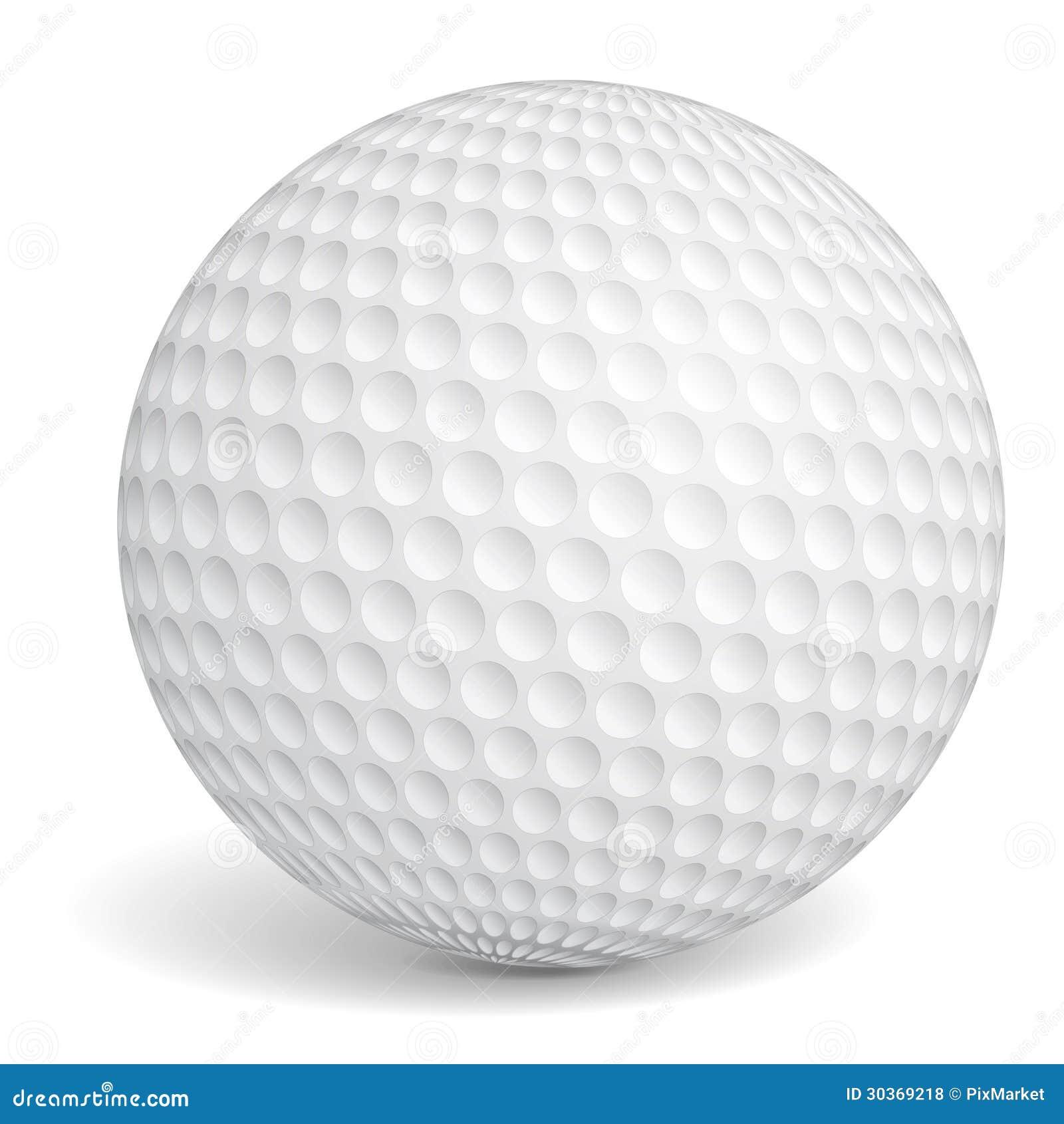 Golf ball on white background Golf Ball Background