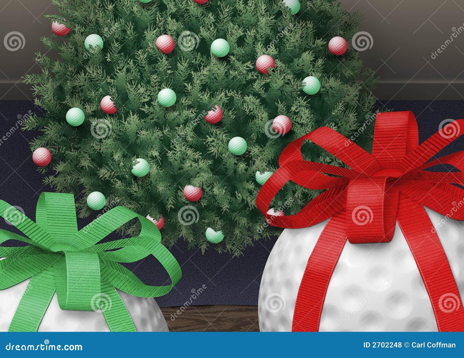 Christmas Tree Ball Placement : Golf ball xmas tree royalty free stock photos image