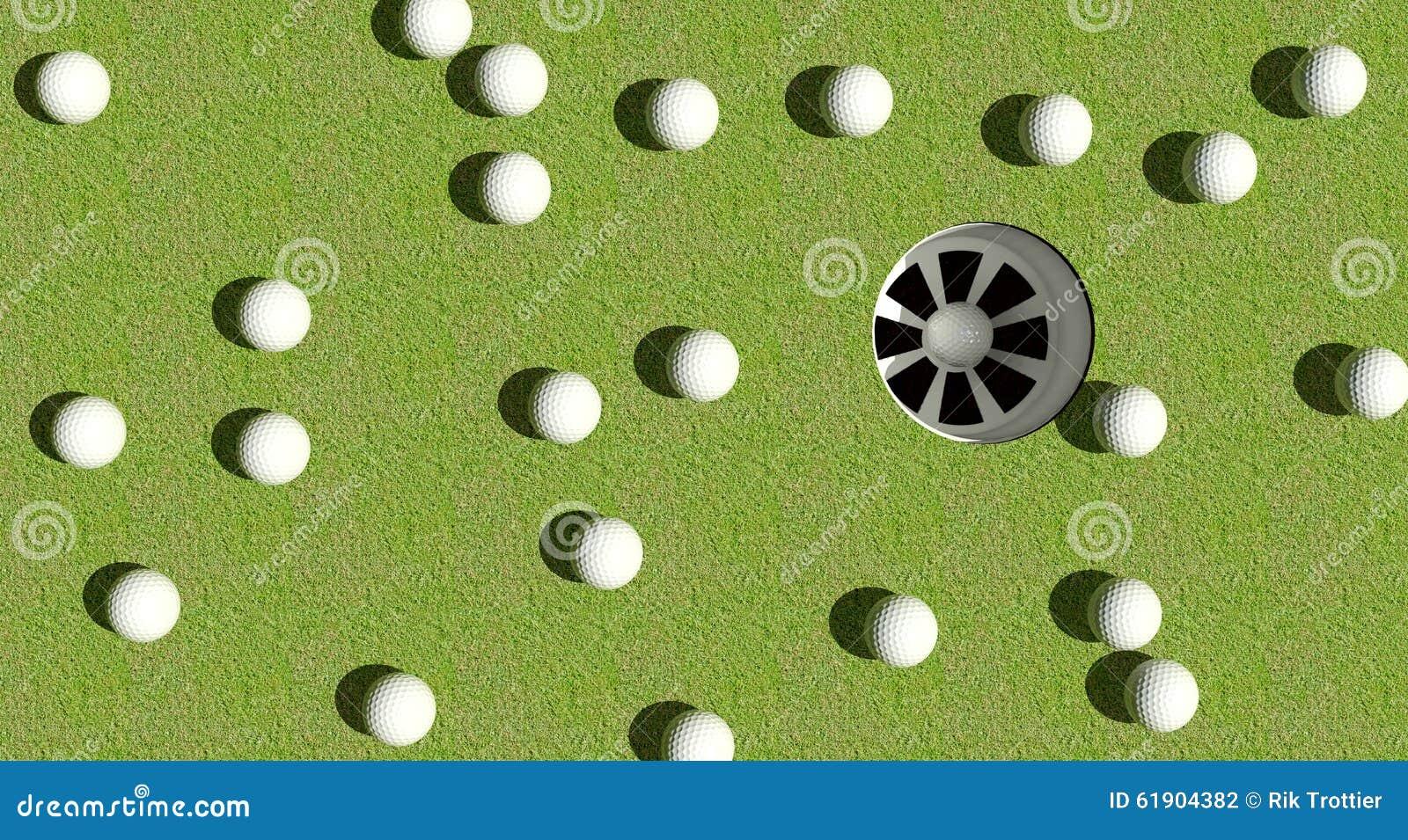 Golf balls hole