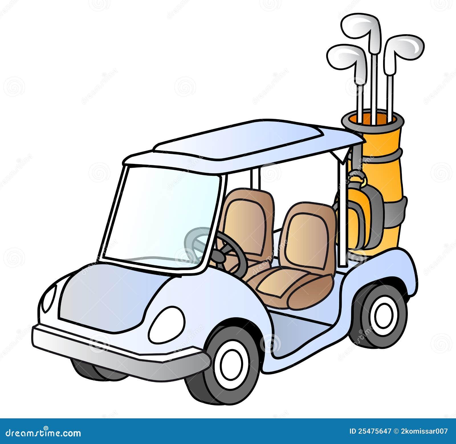 golf car stock vector illustration of golf transport 25475647