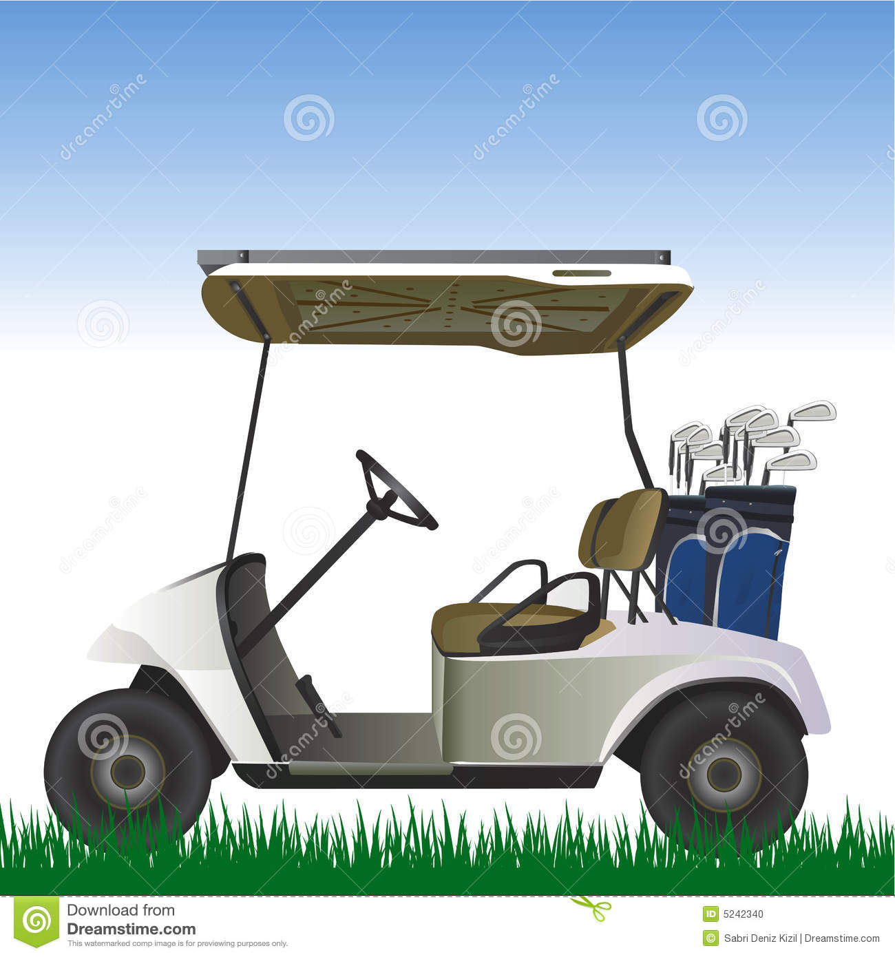 Golf Cart In The Field Vector Stock Vector - Illustration of relax Golf Cart Relaxing on exciting golf, natural golf, lazy golf, peaceful golf, cute golf, captain kangaroo golf, playing golf,