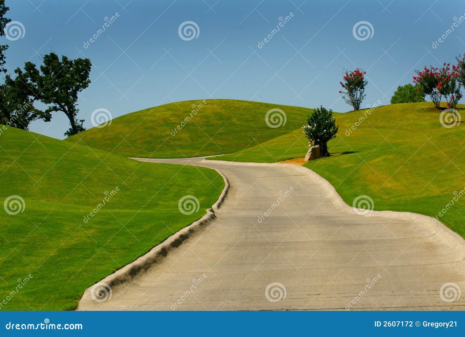 Golf Cart Path Stock Photography - Image: 2607172 Golf Ball On Tee Clipart