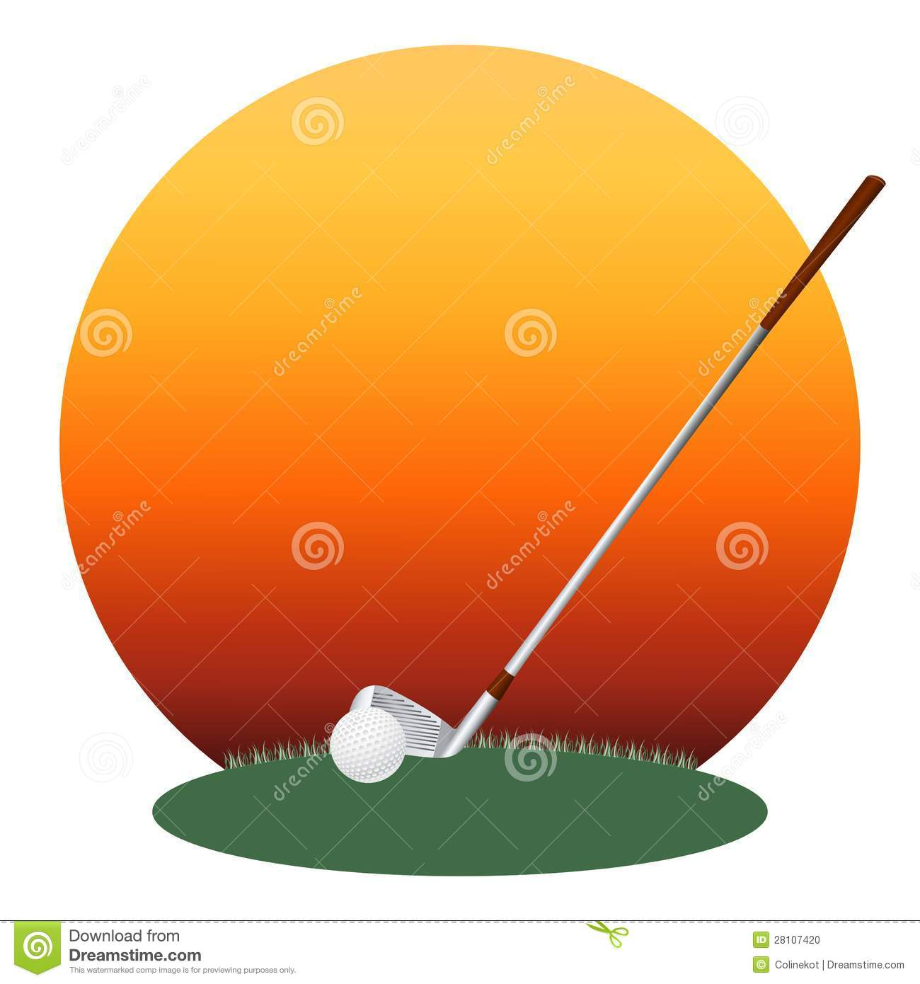 Golf club and a ball