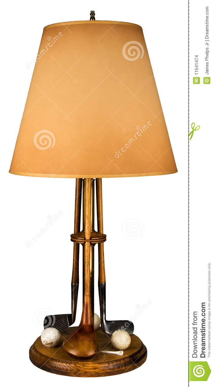 Golf club and ball table lamp stock photo image of table antique golf club and ball table lamp aloadofball Choice Image