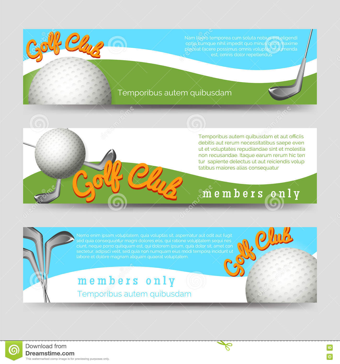 golf club banners template stock vector illustration of banner
