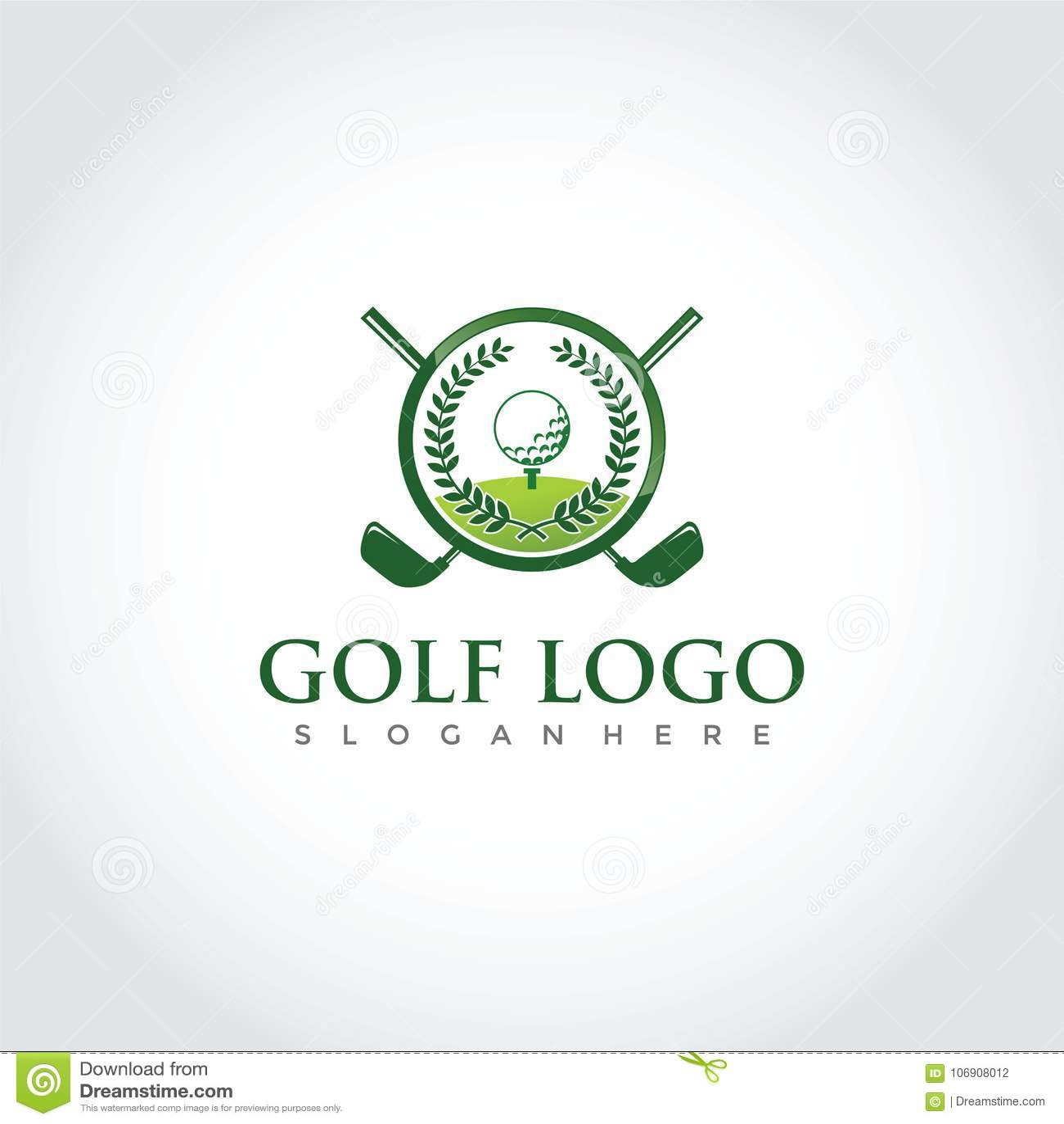 Golf Club Logo Design Vector Illustrator Eps 10 Stock Illustration Illustration Of Champion Green 106908012