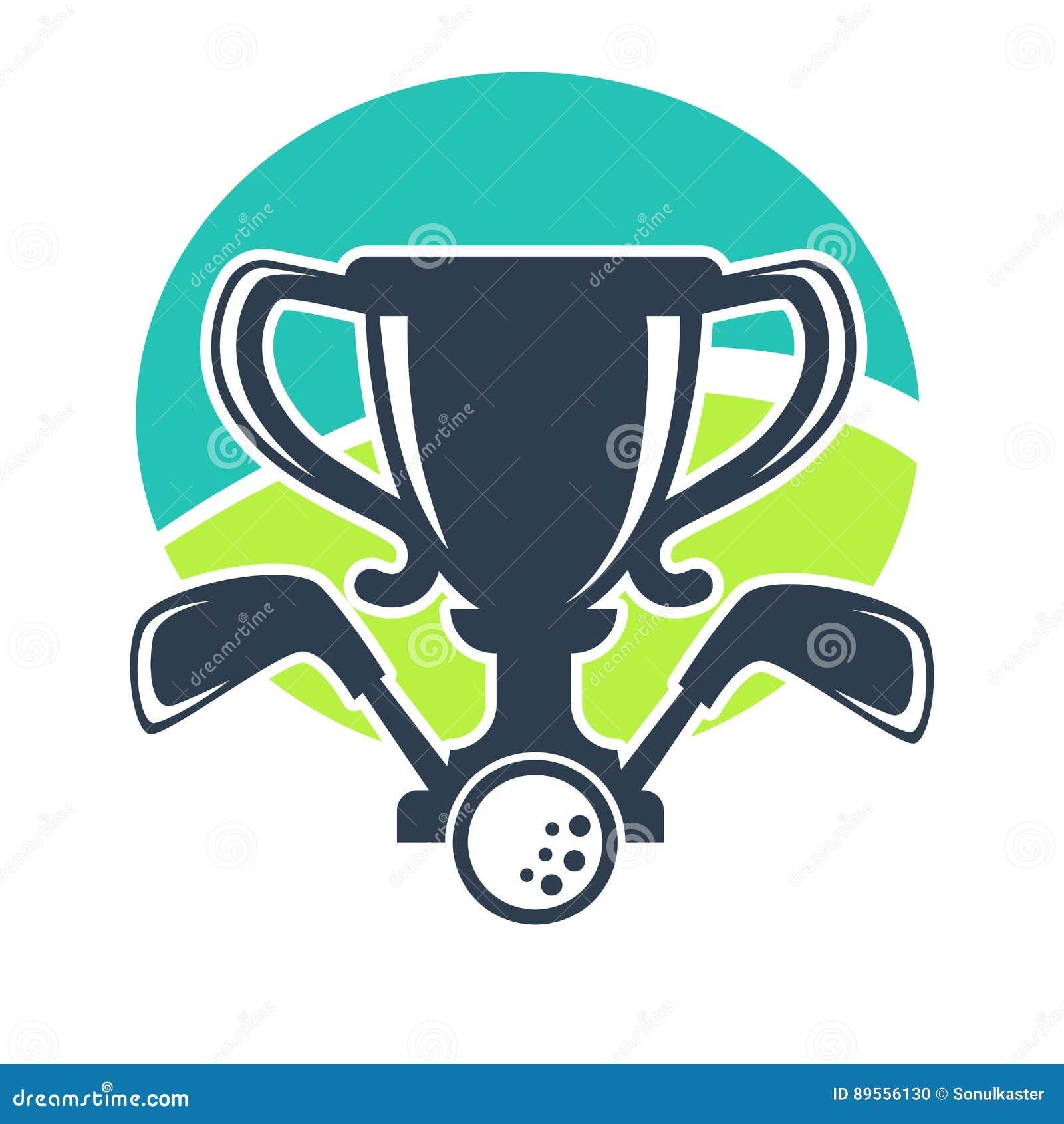 golf club or tournament award cup vector icon stock vector