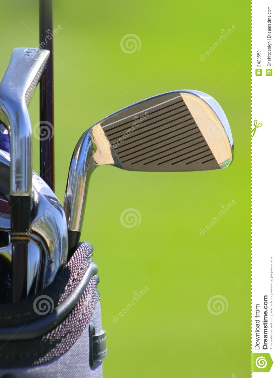 Download Golf Clubs stock photo. Image of golf, wheels, pull, course - 2429550