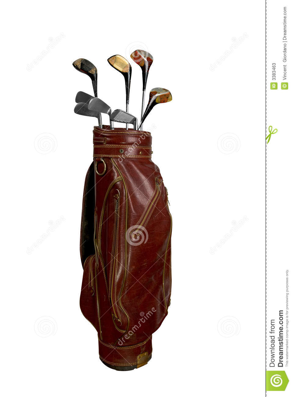 golf clubs in bag stock photos image 3383463