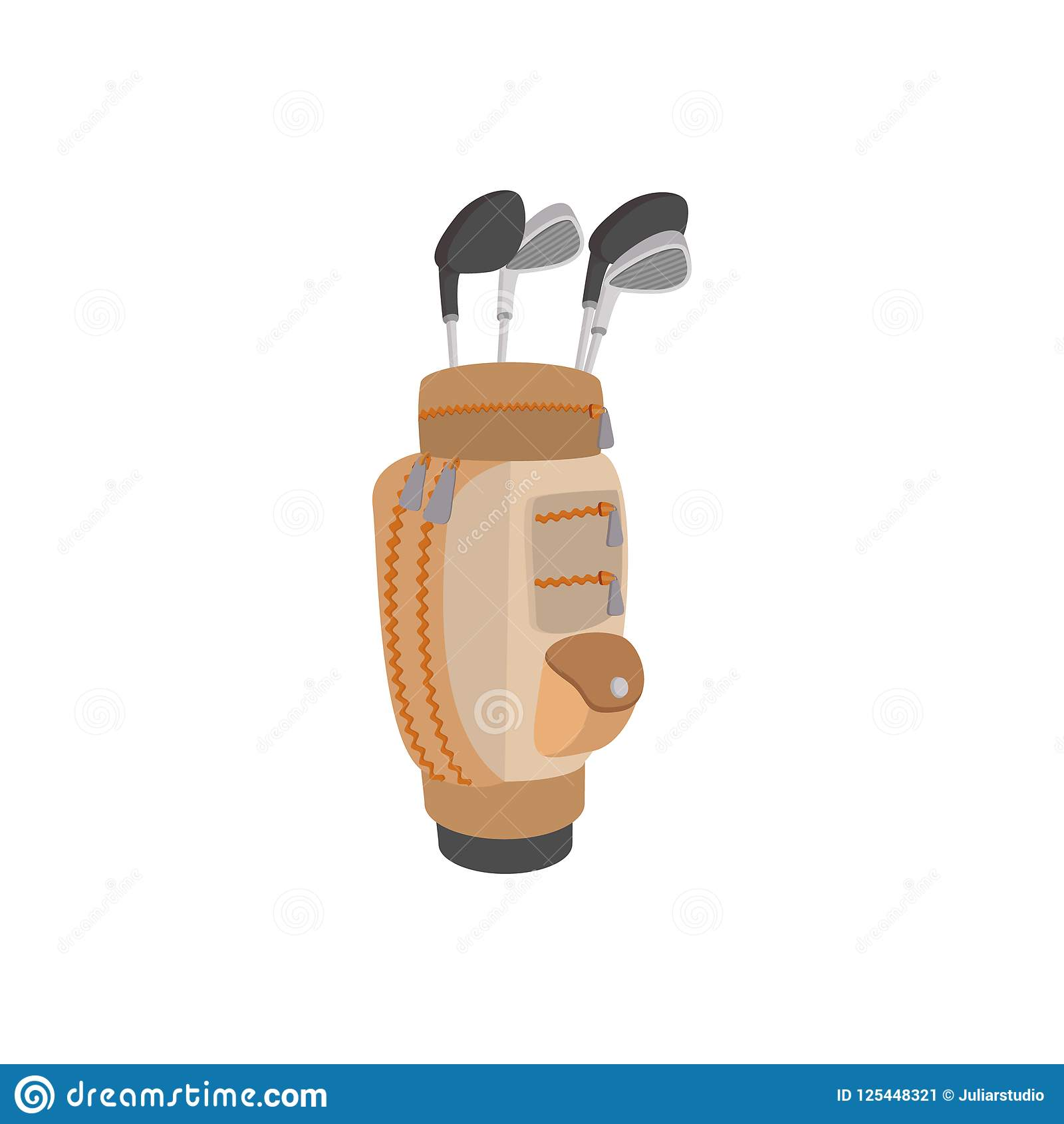 Golf Clubs In A Brown Bag Cartoon Icon Stock Illustration ... on cartoon hat, cartoon men, cartoon bowling bag, cartoon camera, cartoon star, cartoon golfer, cartoon tennis bag, cartoon gloves, cartoon nut sack, cartoon wine bag, cartoon pool bag, cartoon butterfly, cartoon putter, cartoon school bag, cartoon beach bag, cartoon clubs, cartoon mother, cartoon traveling bag, cartoon baseball bag, cartoon shorts,