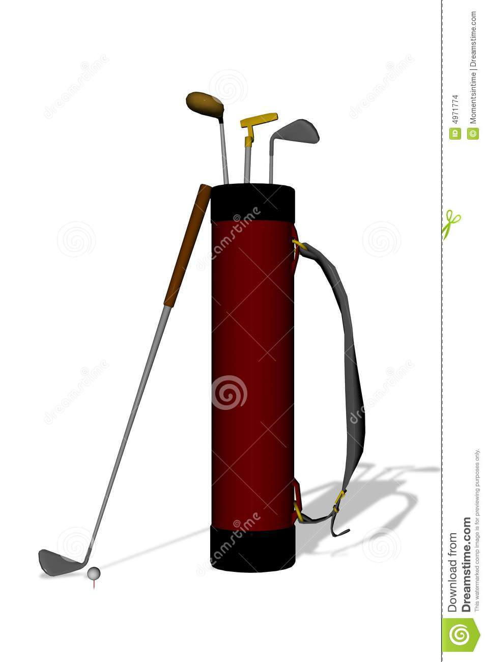 Golf Clubs over White