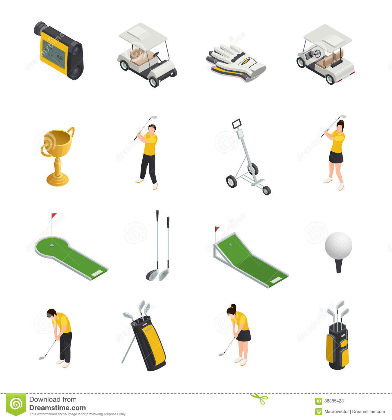 Isometric Exercises Equipment: Flagstick Cartoons, Illustrations & Vector Stock Images