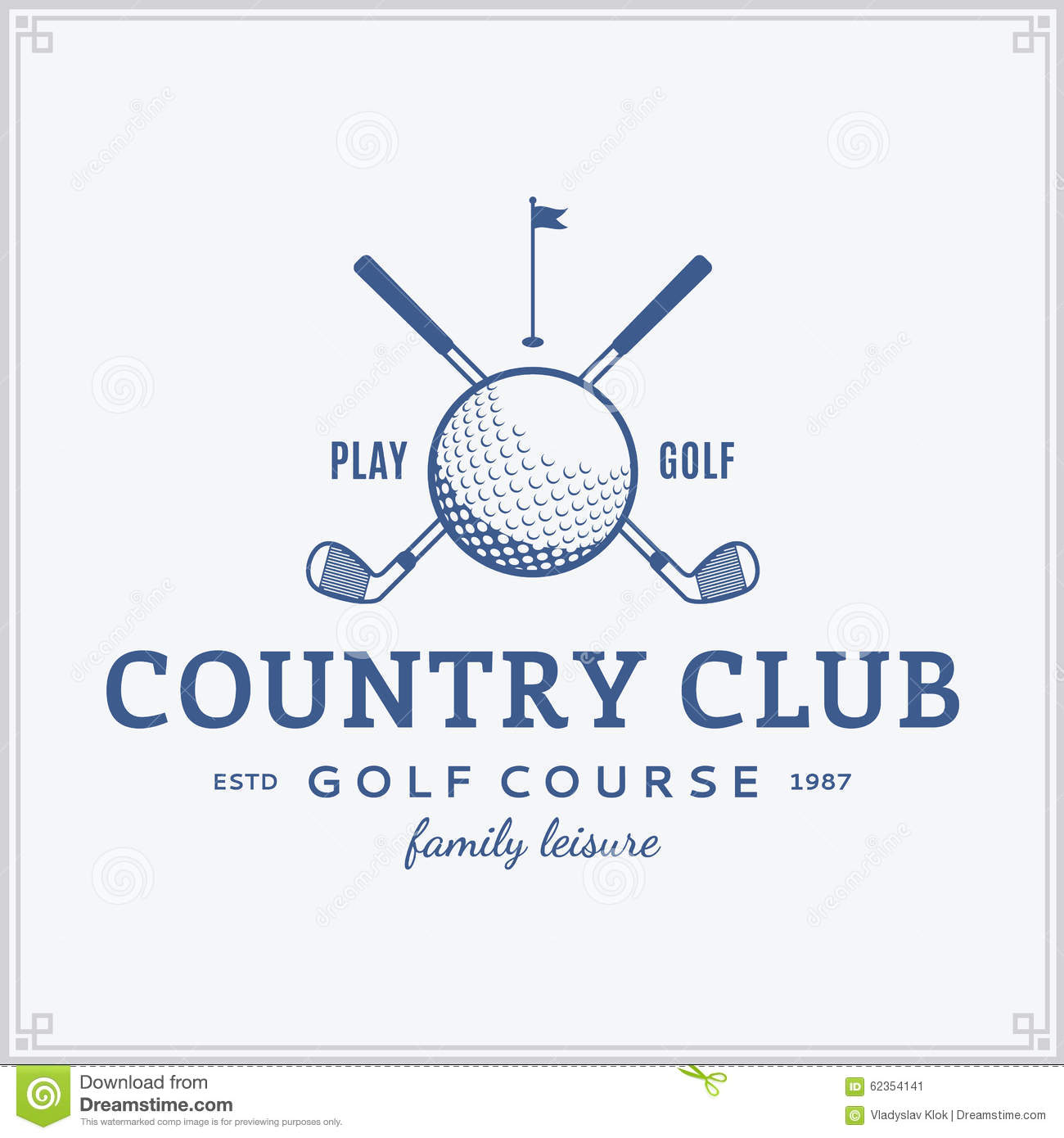 Golf Country Club Logo Template Stock Vector - Image: 62354141