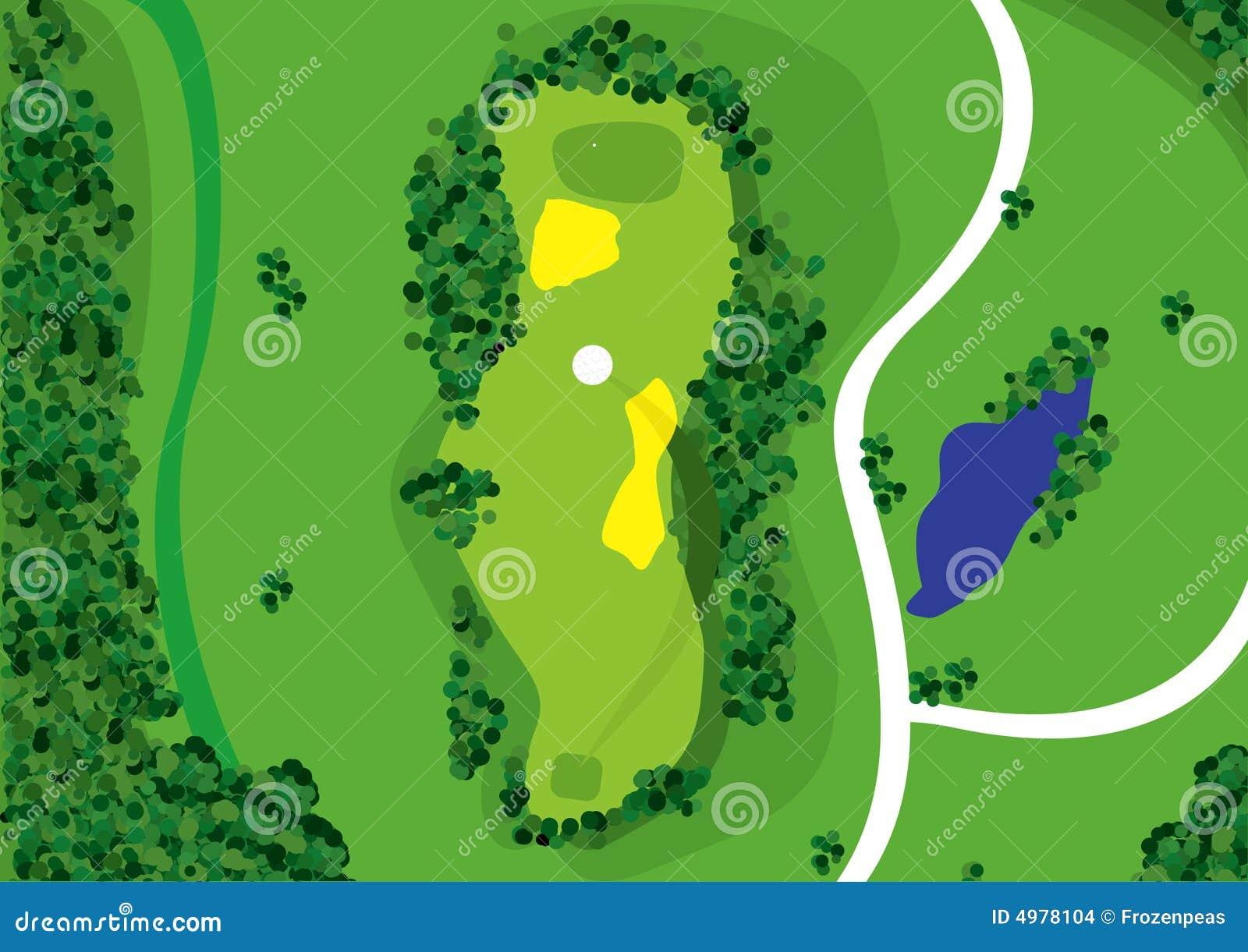 Small garden cartoon - Golf Course Stock Images Image 4978104