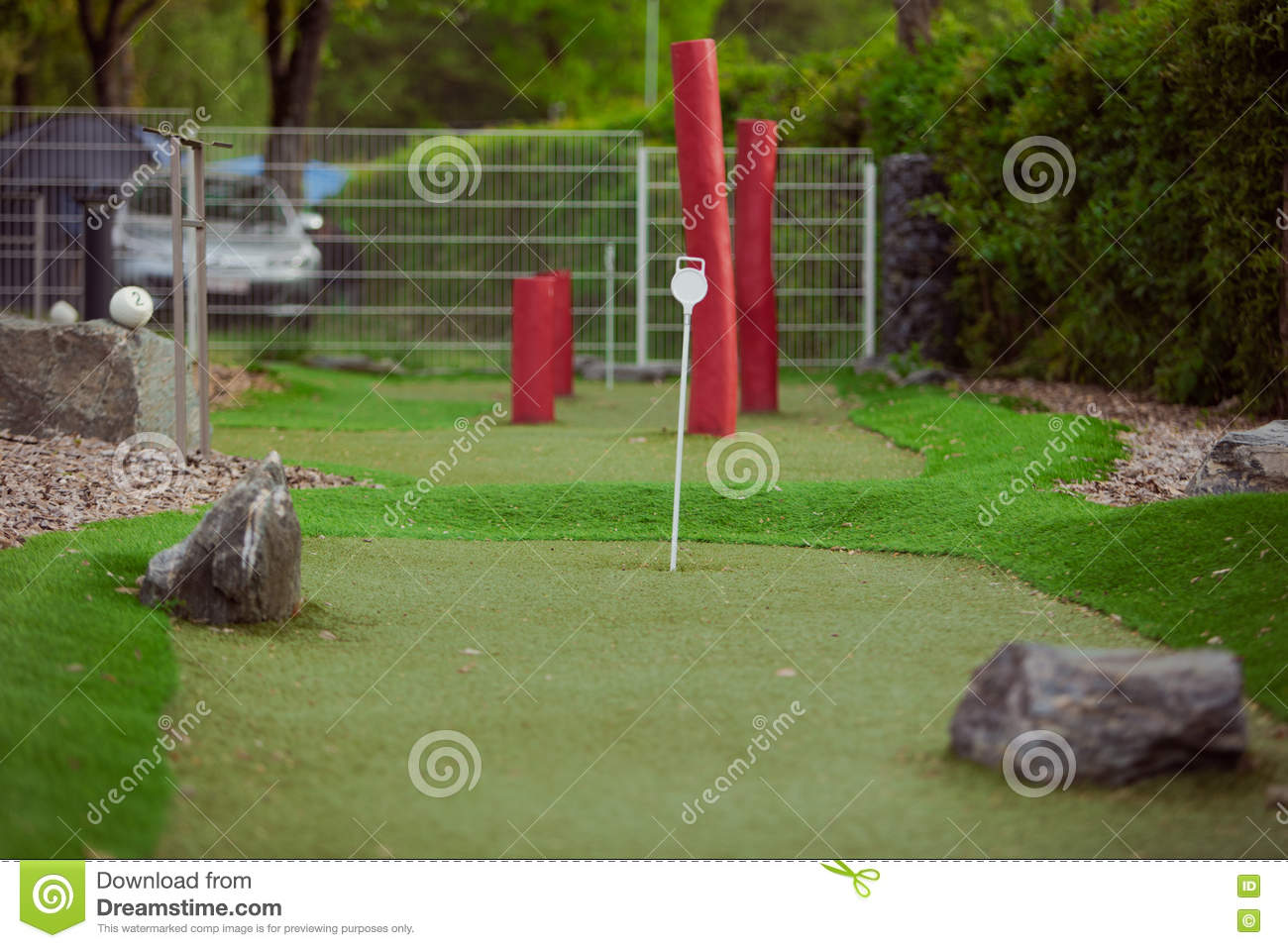 Golf Course Beautiful Landscaping Stock Image Image Of Beautiful Field 72056615