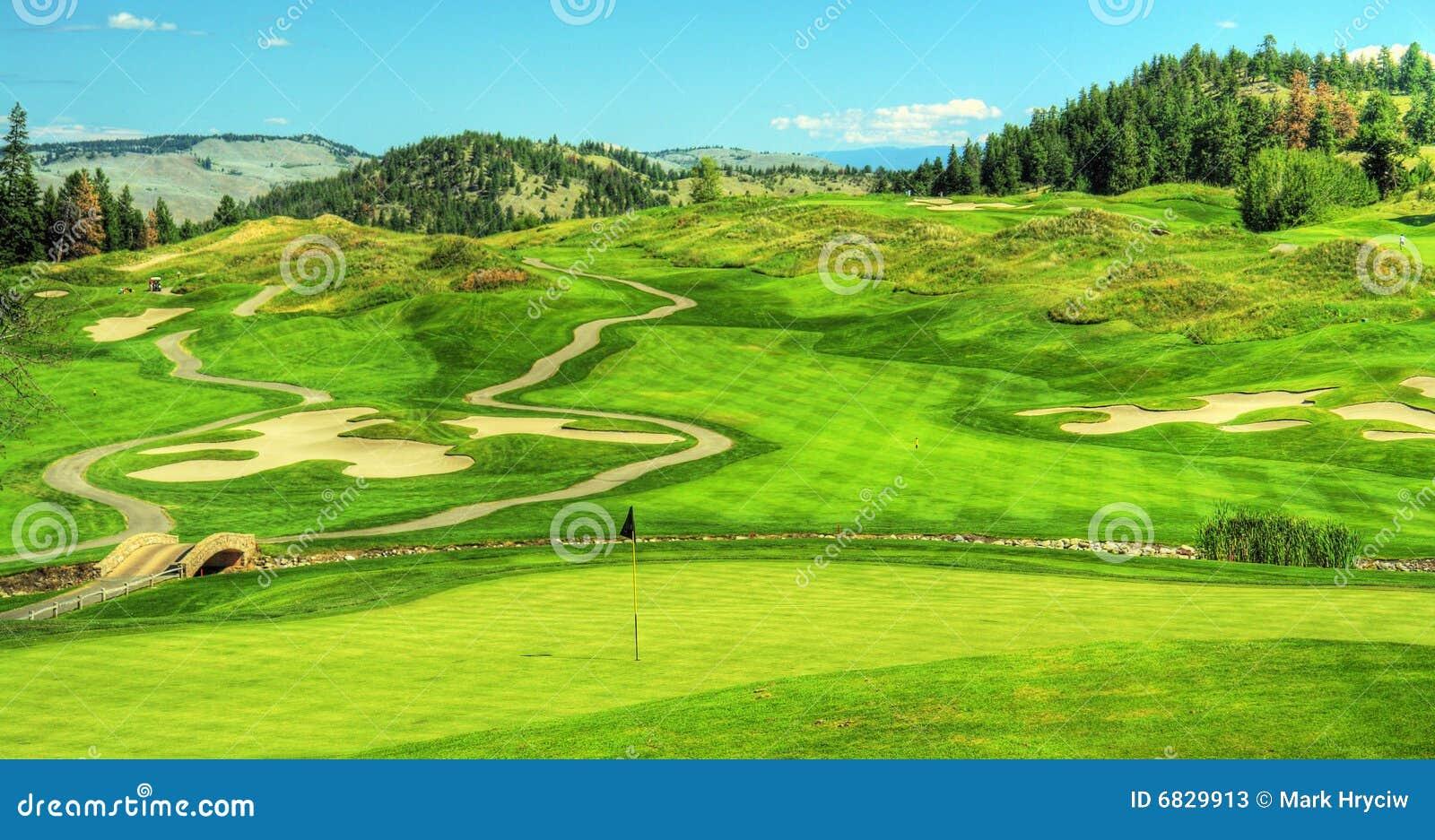 Golf Course Golfing Panorama Stock Photos - Image: 6829913