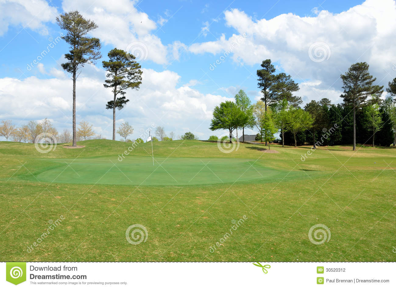 Golf Course Green And Fairway Stock Photography Image