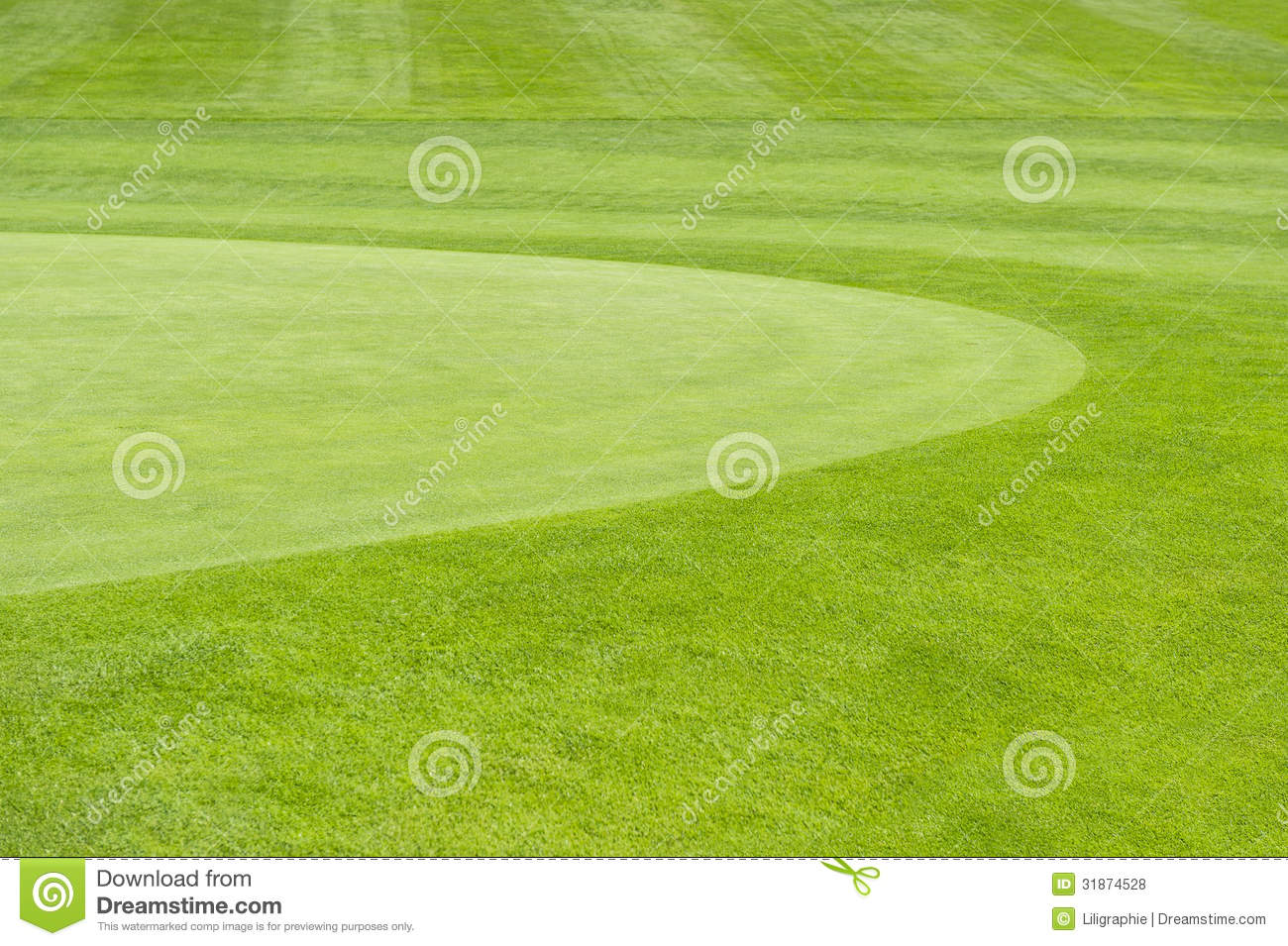 Golf Course Green Field Background Stock Photo Image 31874528